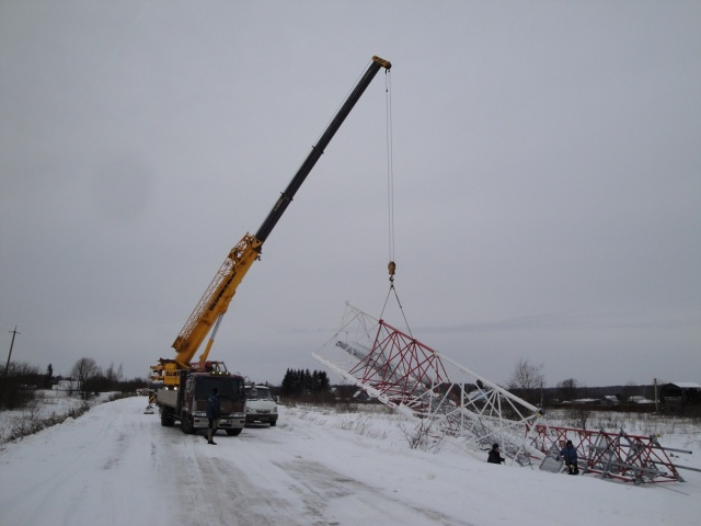 Установка вышки связи 60м г. Иваново